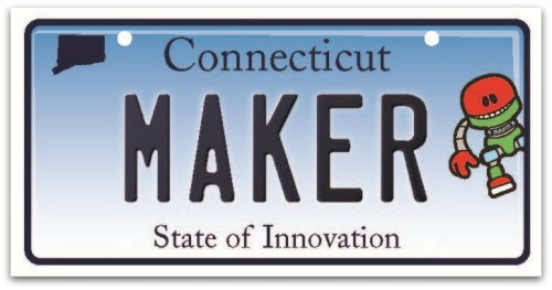 CT state of innovation license plate