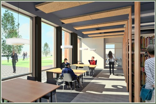 The new lower level will take great advantage of the riverside views -- and will contain most of the volumes now located one floor above.