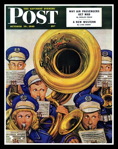 Westport illustrator Stevan Dohanos' 1946 Saturday Evening Post cover.