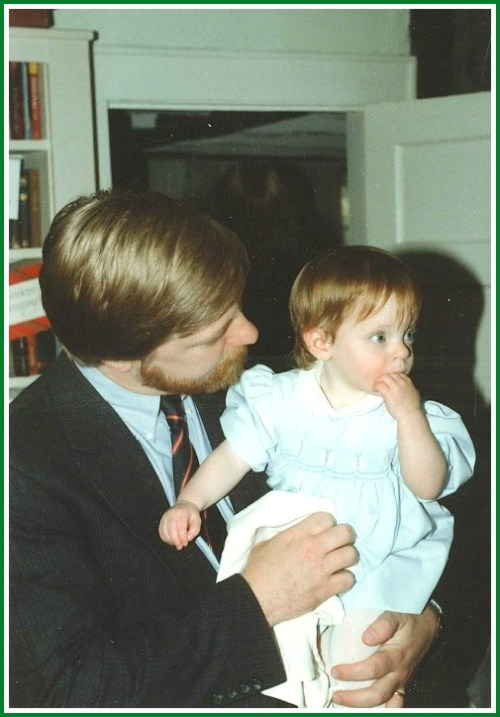 The Bacharachs' next door neighbor John Woodruff, with his young daughter Emily.
