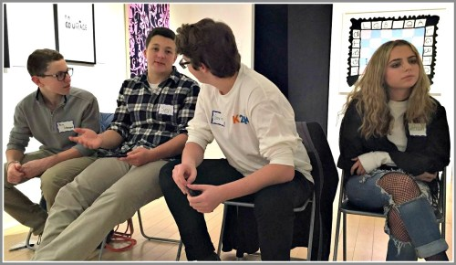 Brian Greenspan, Ben Klau, Gavin Berger and Emerson Kobak were part of the Kool To Be Kind panel at the Westport Arts Center.