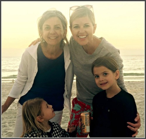 Sara Snow (upper right), with her children and mother. With Bambino Sitters, mom won't always have to babysit!