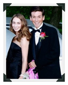 Kira and Aaron, at Staples High School's senior prom.