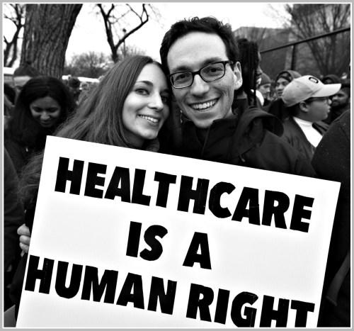 Kira Ganga Kieffer and Aaron Eisman in Washington, the day after the inauguration.