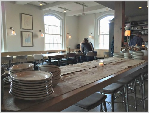 One of the communal tables at Jesup Hall. Last night, it was used for a buffet dinner.