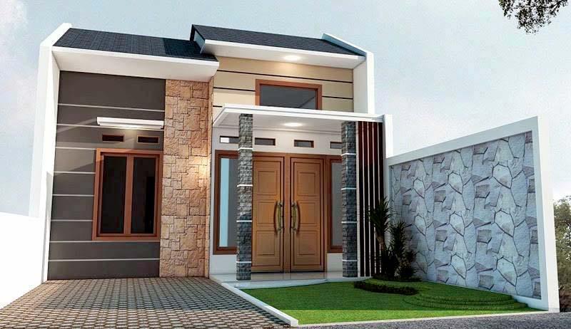Desain Rumah Sederhana Minimalis 2 Kamar Type 36 Modern