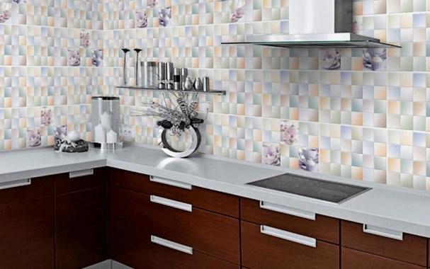 Motif Keramik Dinding Dapur Warna Warni