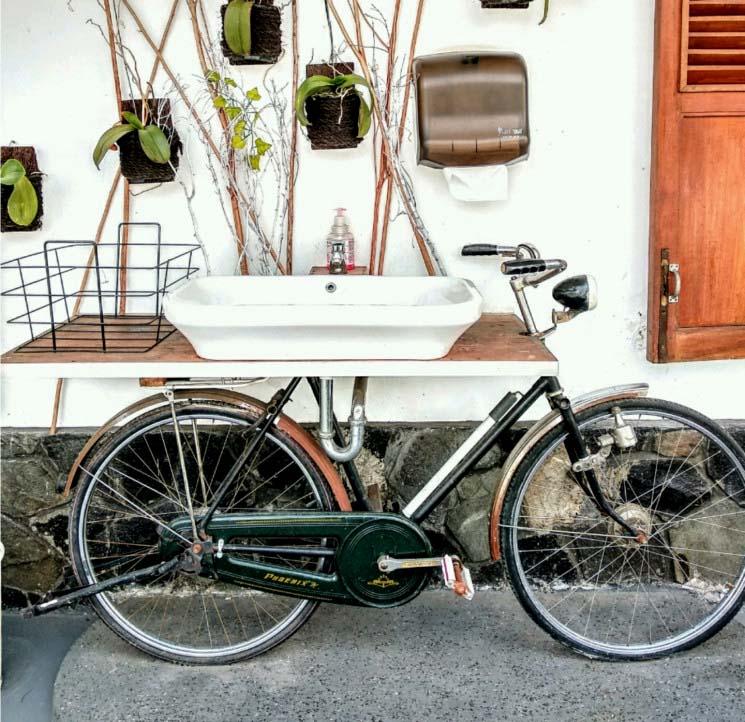 Wastafel Sepeda Unik dan Modern