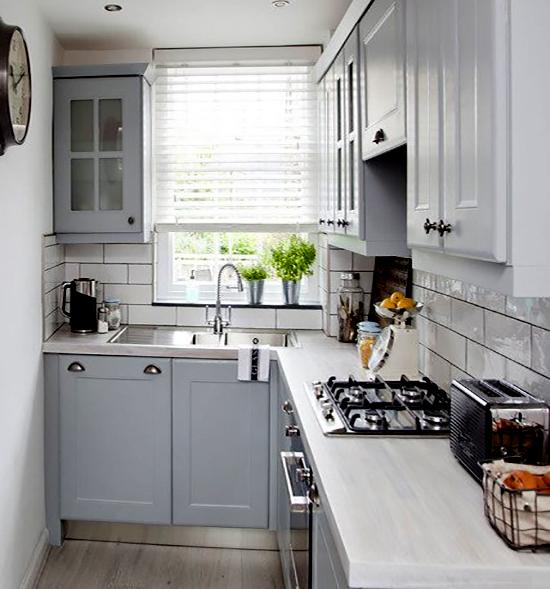 Desain Dapur 2x1 Meter Bentuk L