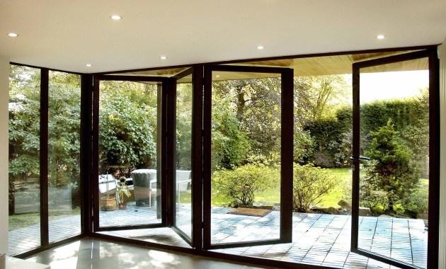 Pintu aluminium dengan konsep lipat modern