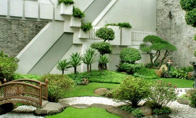 Taman pasir ala zen di dalam rumah modern