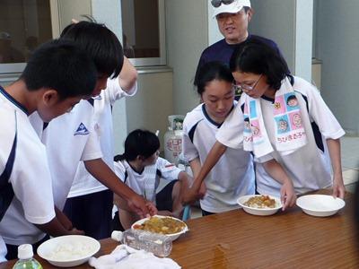 因島南中学校 1000人炊き出し作戦