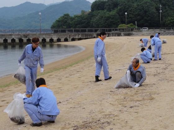 因島鉄工グループ しまなみビーチ清掃