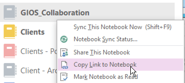 Copy Link to Notebook