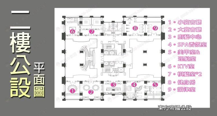 七期總太東方帝國社區 介紹 2樓公設介紹 平面圖 佩君 0908-364-505