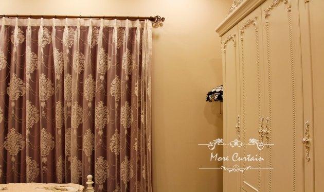 宮廷風窗簾 窗簾藝術軌道