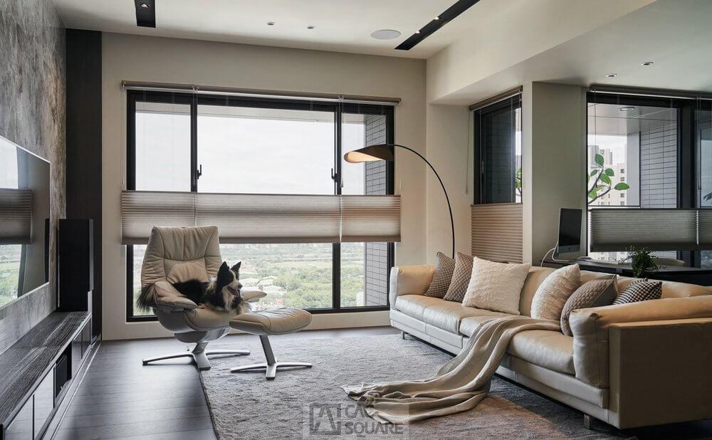 環繞家庭劇院、HunterDouglas風琴簾、棉麻布料窗簾家飾精選案例