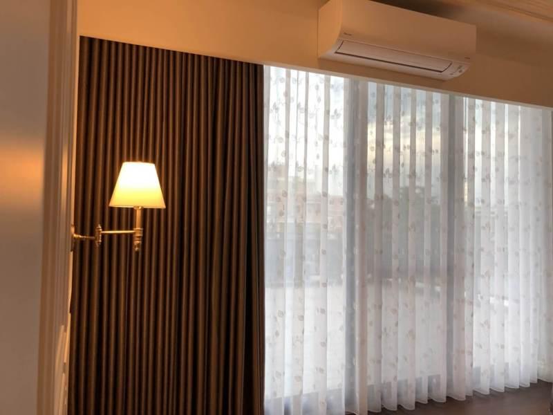 進口麻類遮光窗簾細緻窗紗
