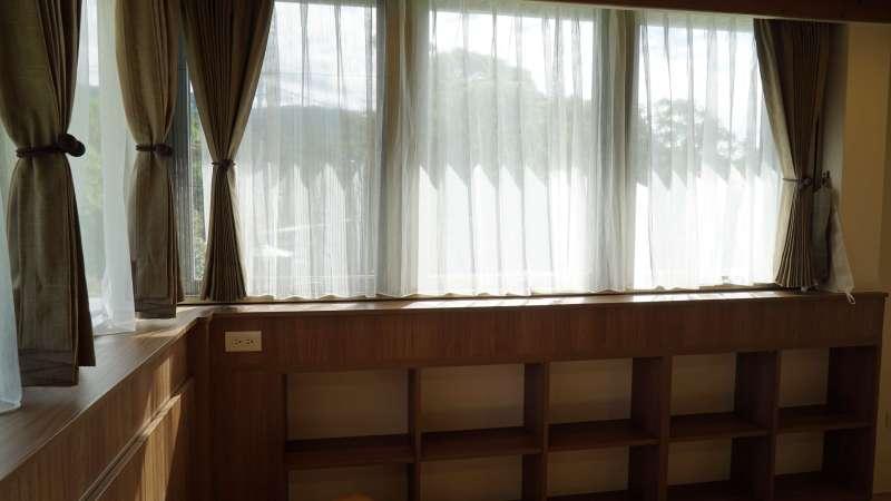 防焰麻布 防焰白紗 木屋窗簾