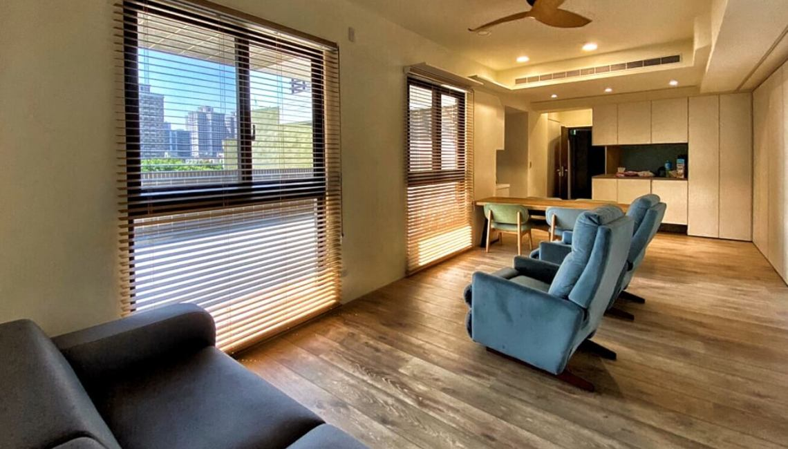 Coulisse木百葉 客廳窗簾設計