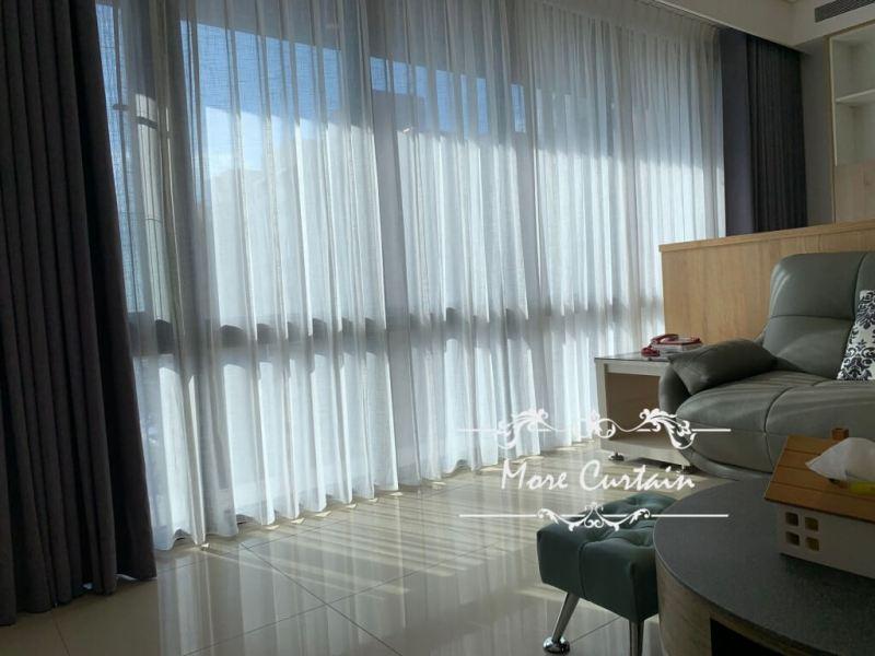 蛇簾 細緻紗簾 客廳落地窗 窗簾設計