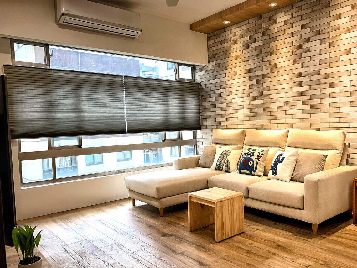 風琴簾 客廳窗簾設計