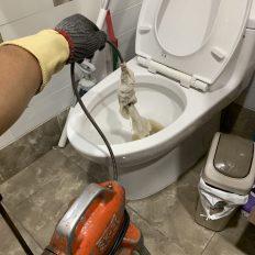 阿威通管行 新店區通馬桶 更多的濕紙巾堵塞在糞管