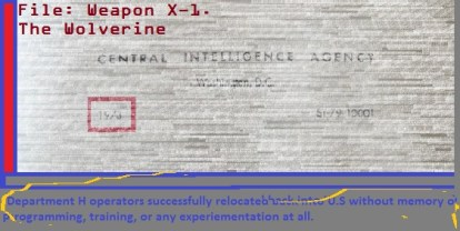 Wolvie File Frame CIA