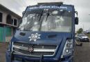 Policía de Michoacán contra normalistas en Tiripetío.