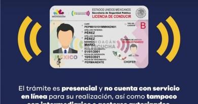 Alerta SSP sobre emisión de licencias de conducir falsas.