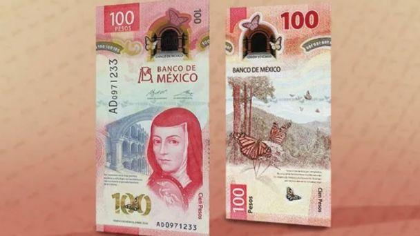Billete de 100 pesos recibe premio como el mejor del año.