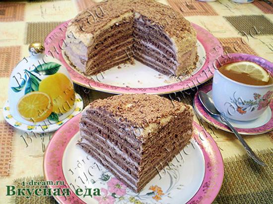 Вкусный шоколадный торт на сковороде - без выпечки-рецепт ...