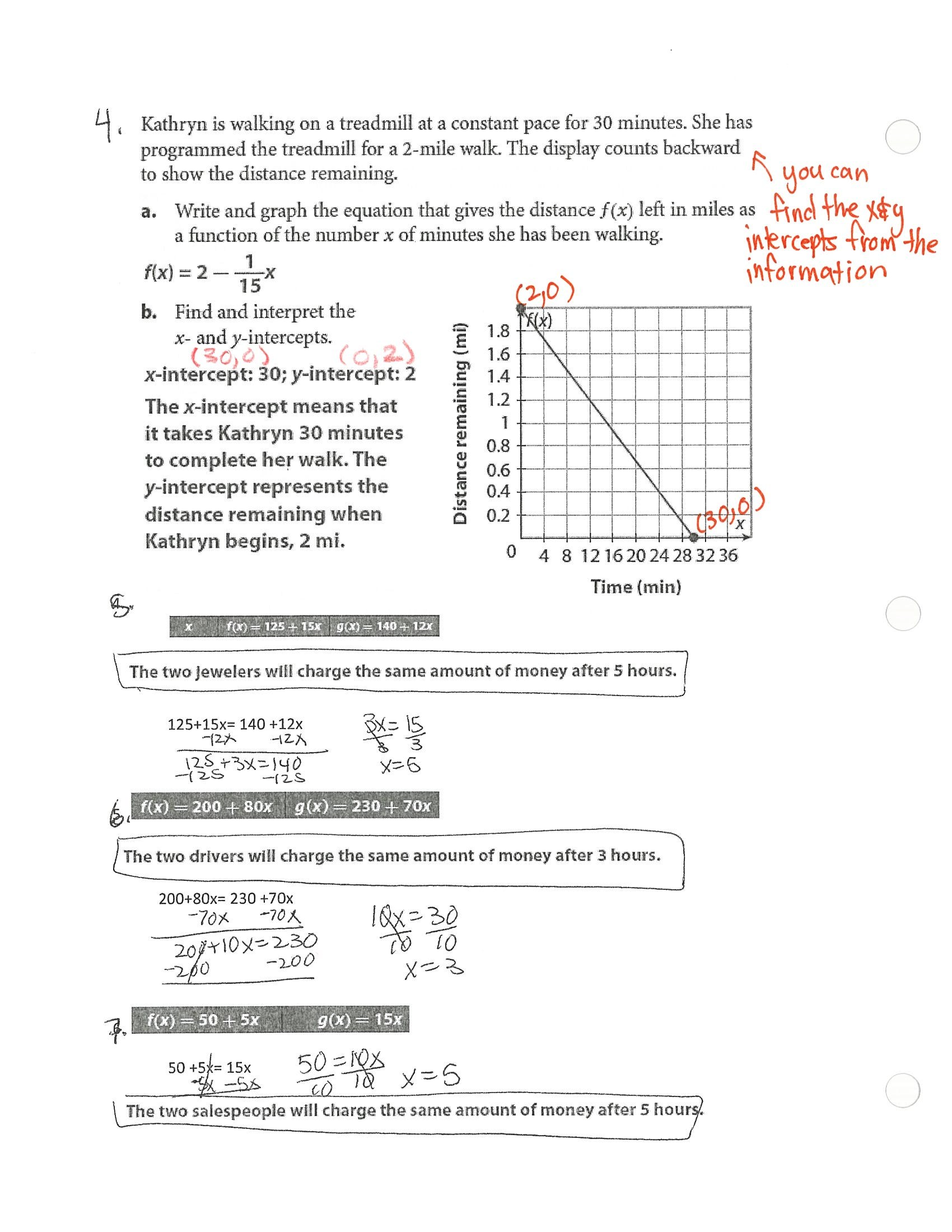 Writing Linear Equations Module Quiz D Answers