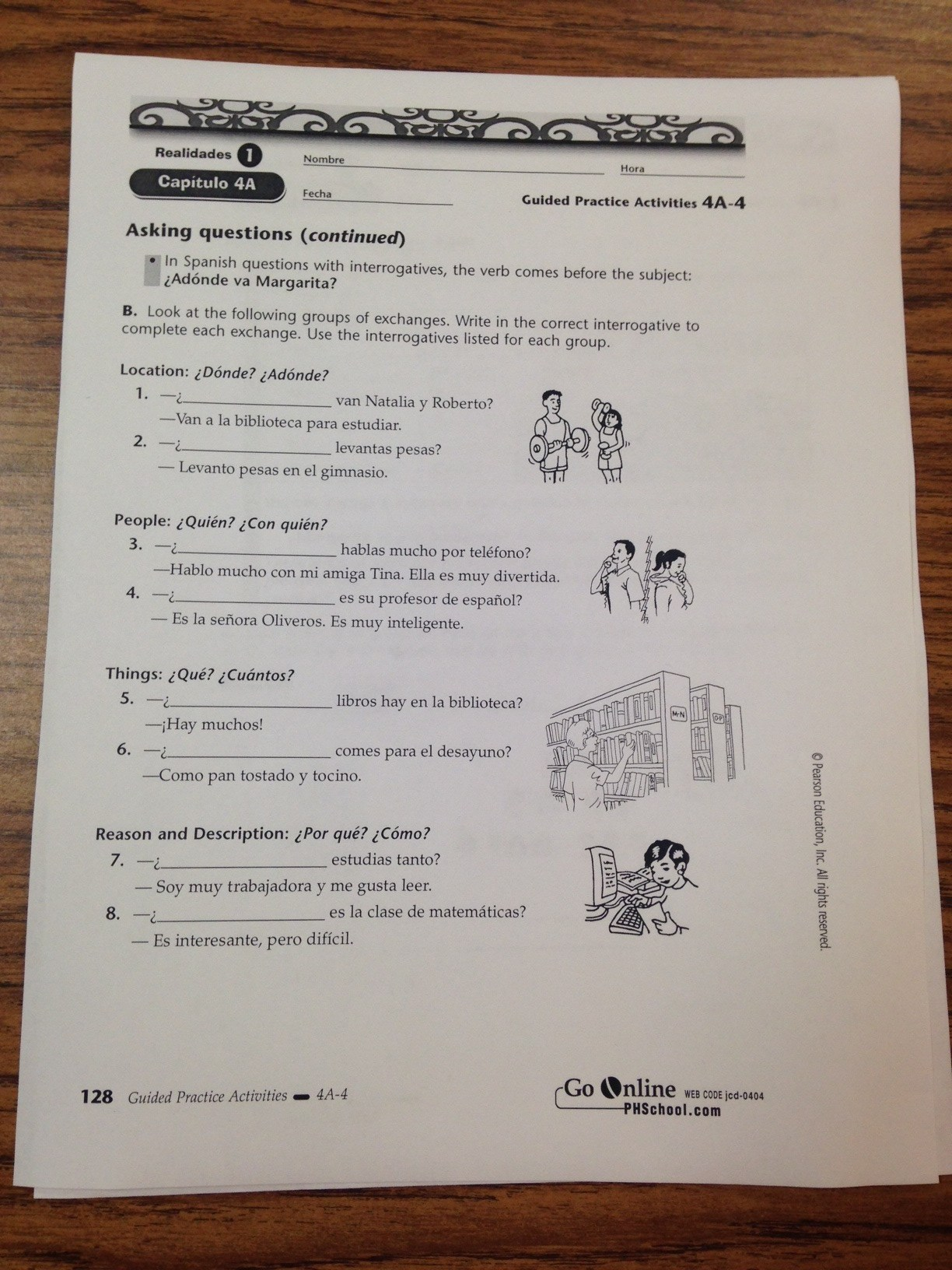 Guided Practice Activities 7a 3 Answer Key