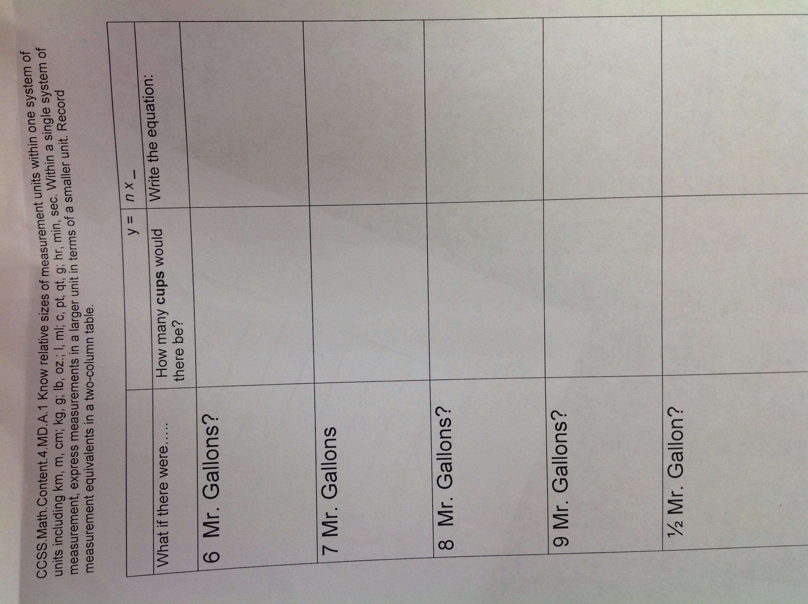 Math Worksheet Vive La France