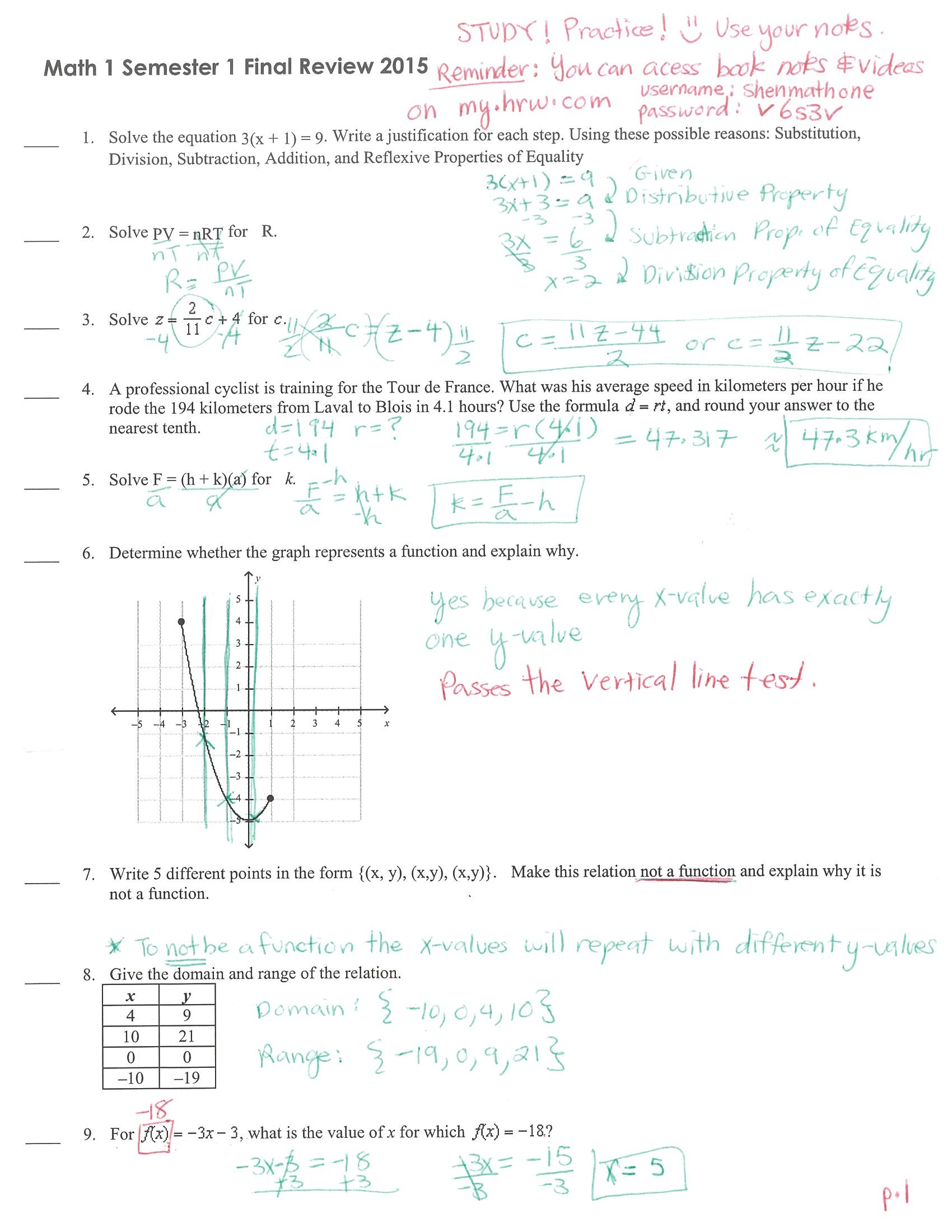 Writing Linear Equations Module Quiz B