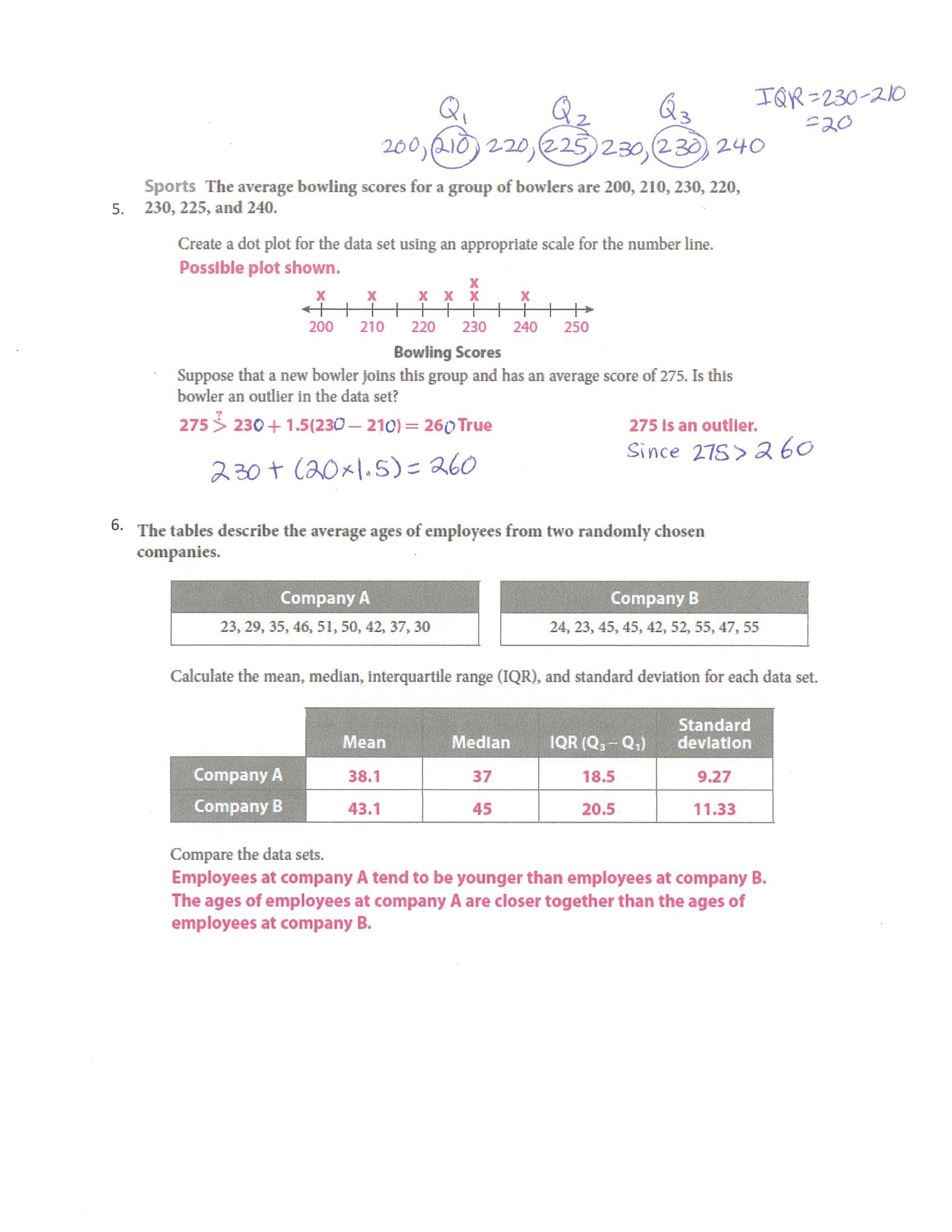 Two Way Frequency Table Worksheet Doc