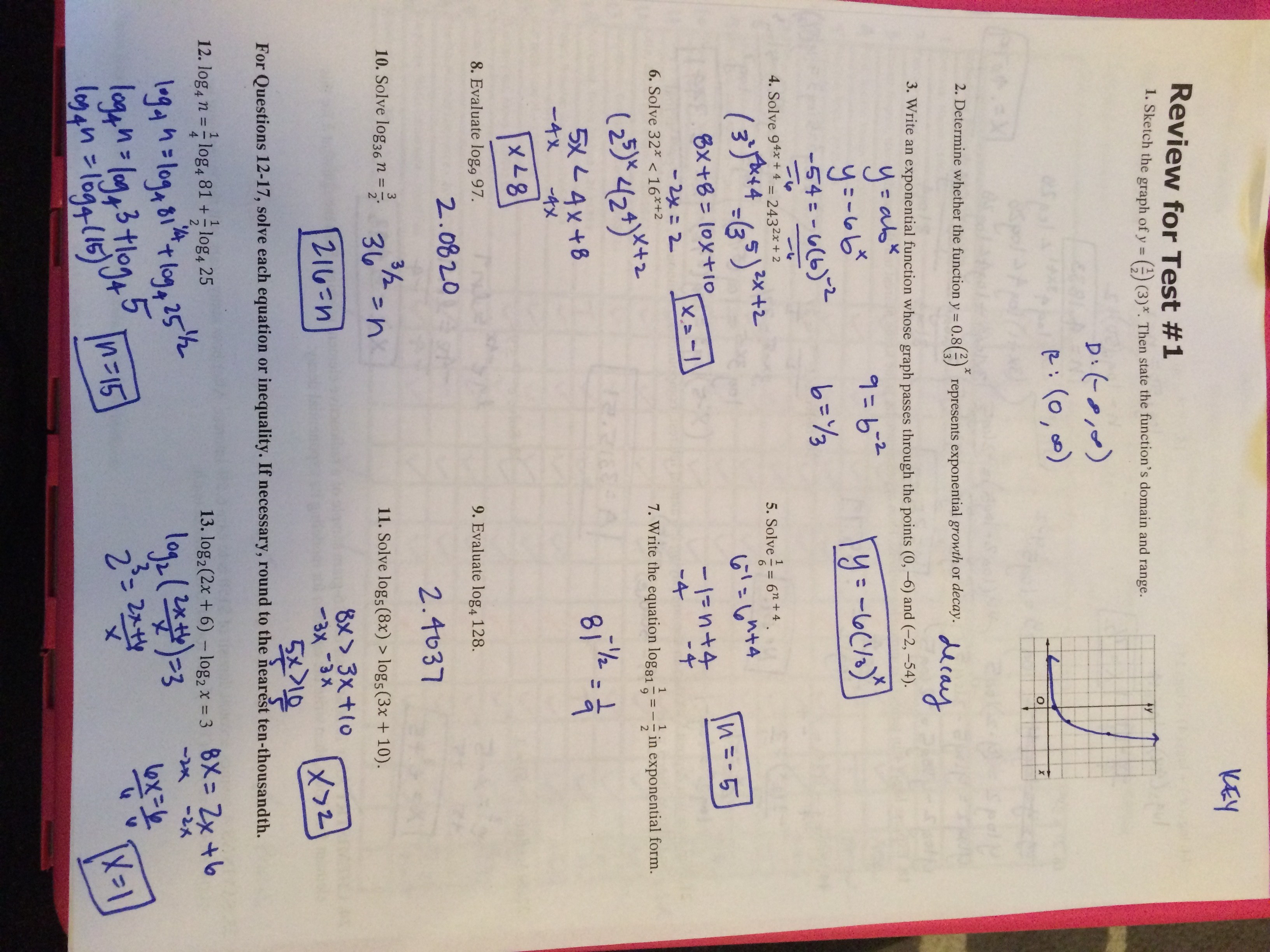 Unit 1 Test Study Guide Equations And Inequalities Answers
