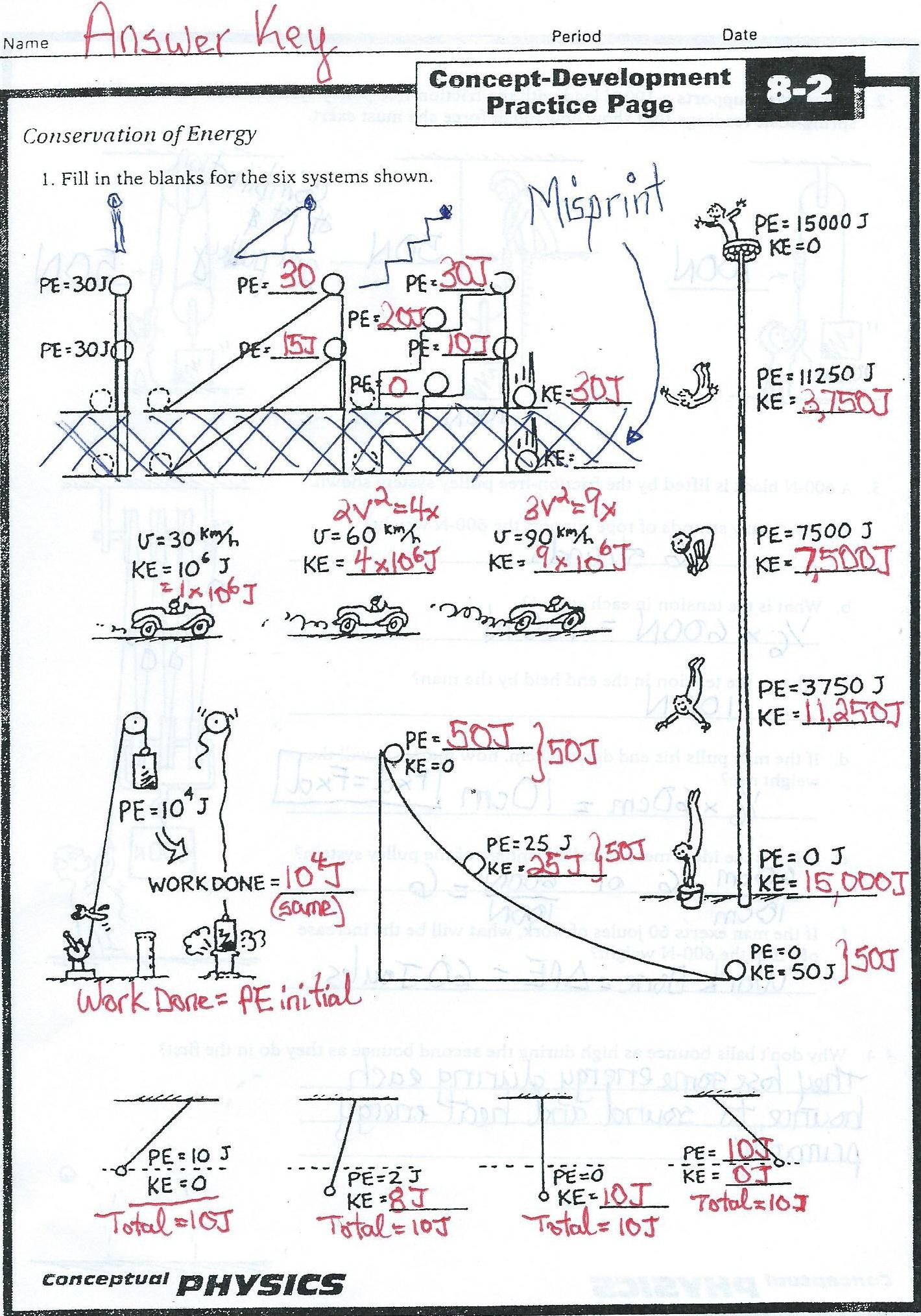 Conceptual Physics Practice Page Chapter 7 Energy