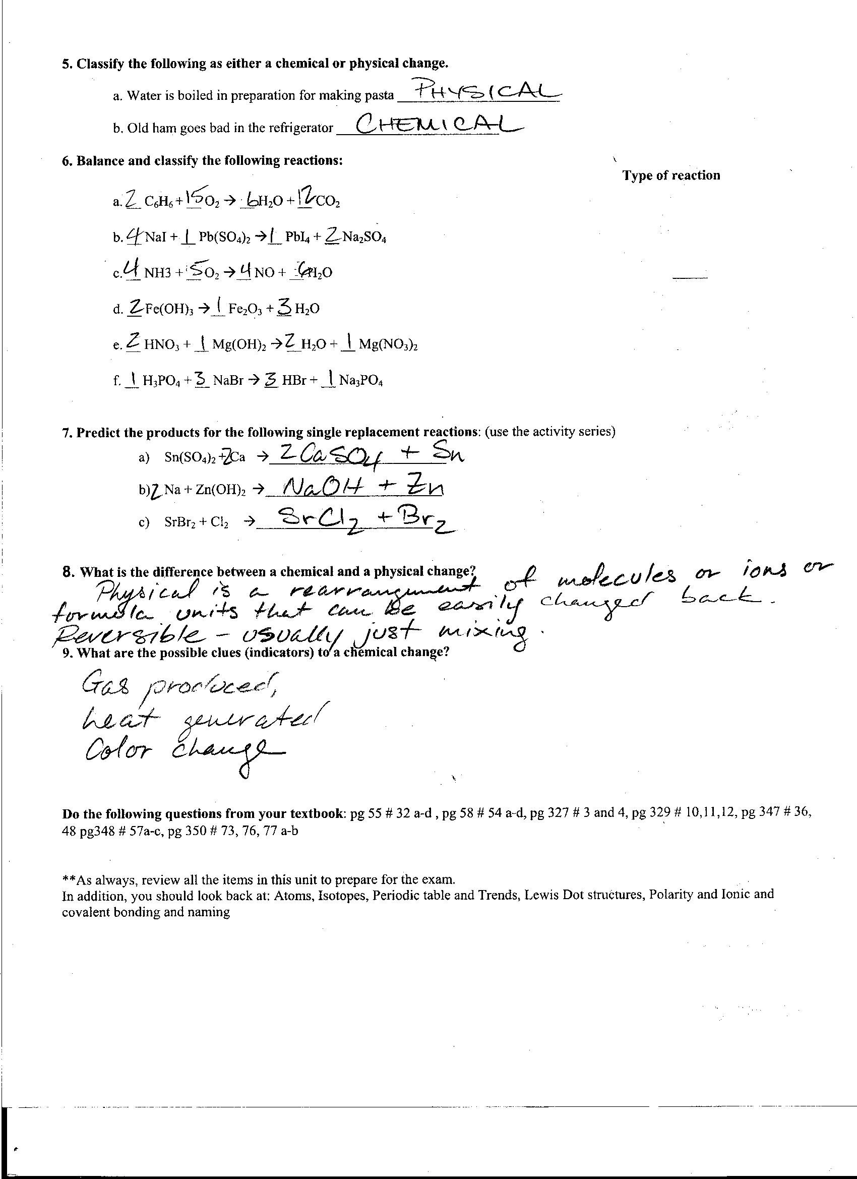 Chemistry Worksheet Lewis Dot Structures Answers