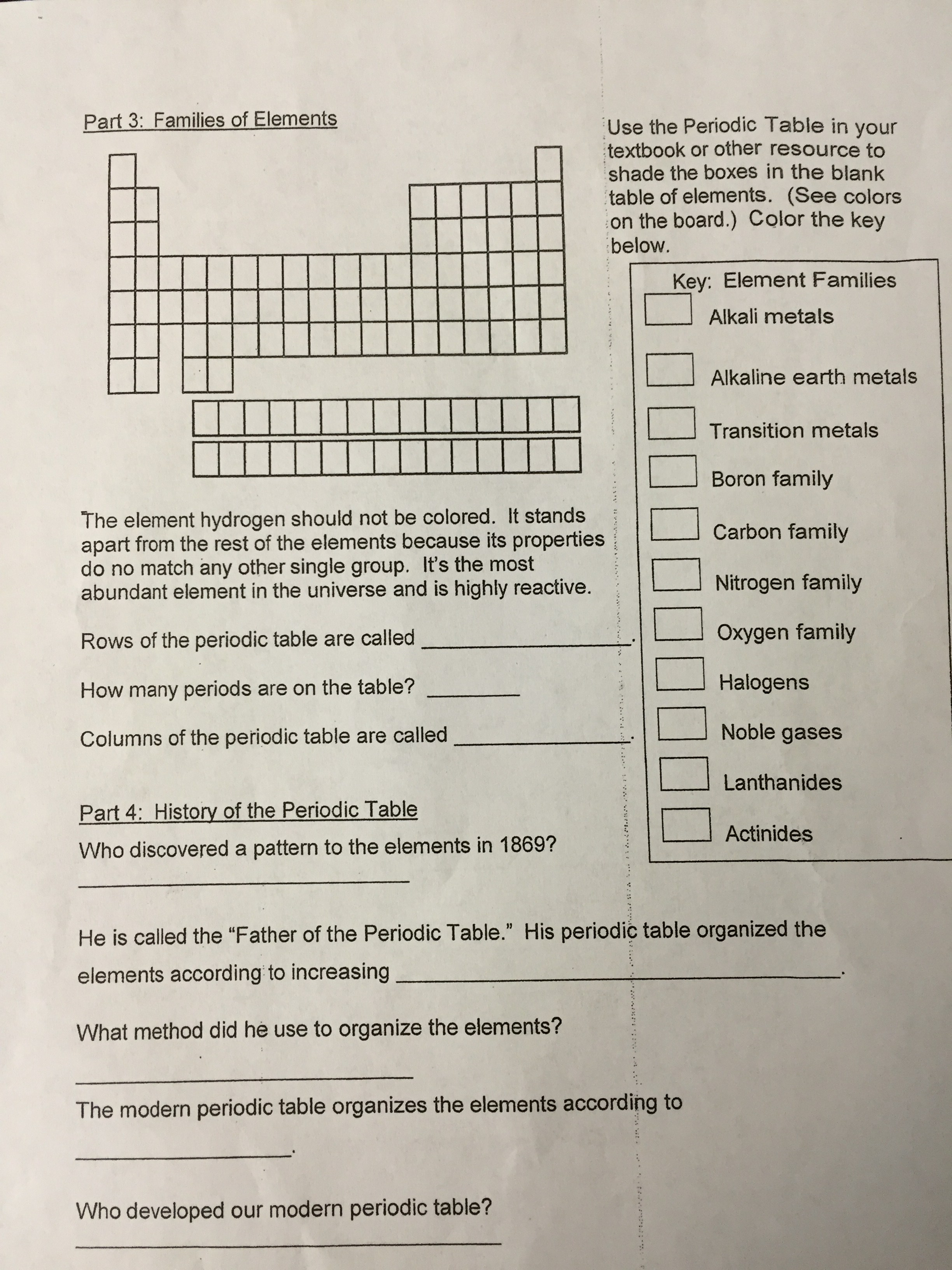 Get Organized A Periodic Table Webquest Answer Key
