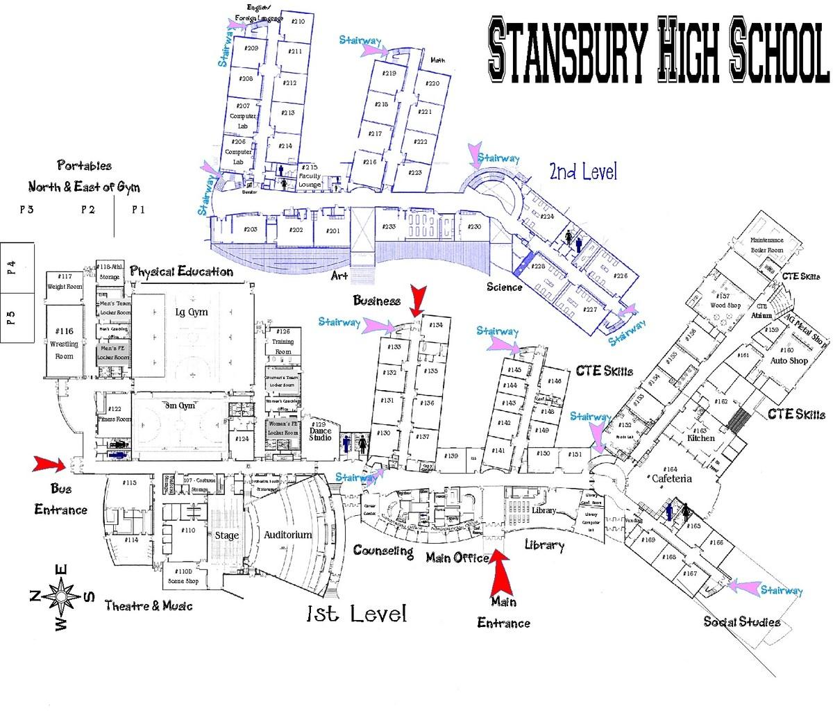 Campus Map High Students Chaffey School