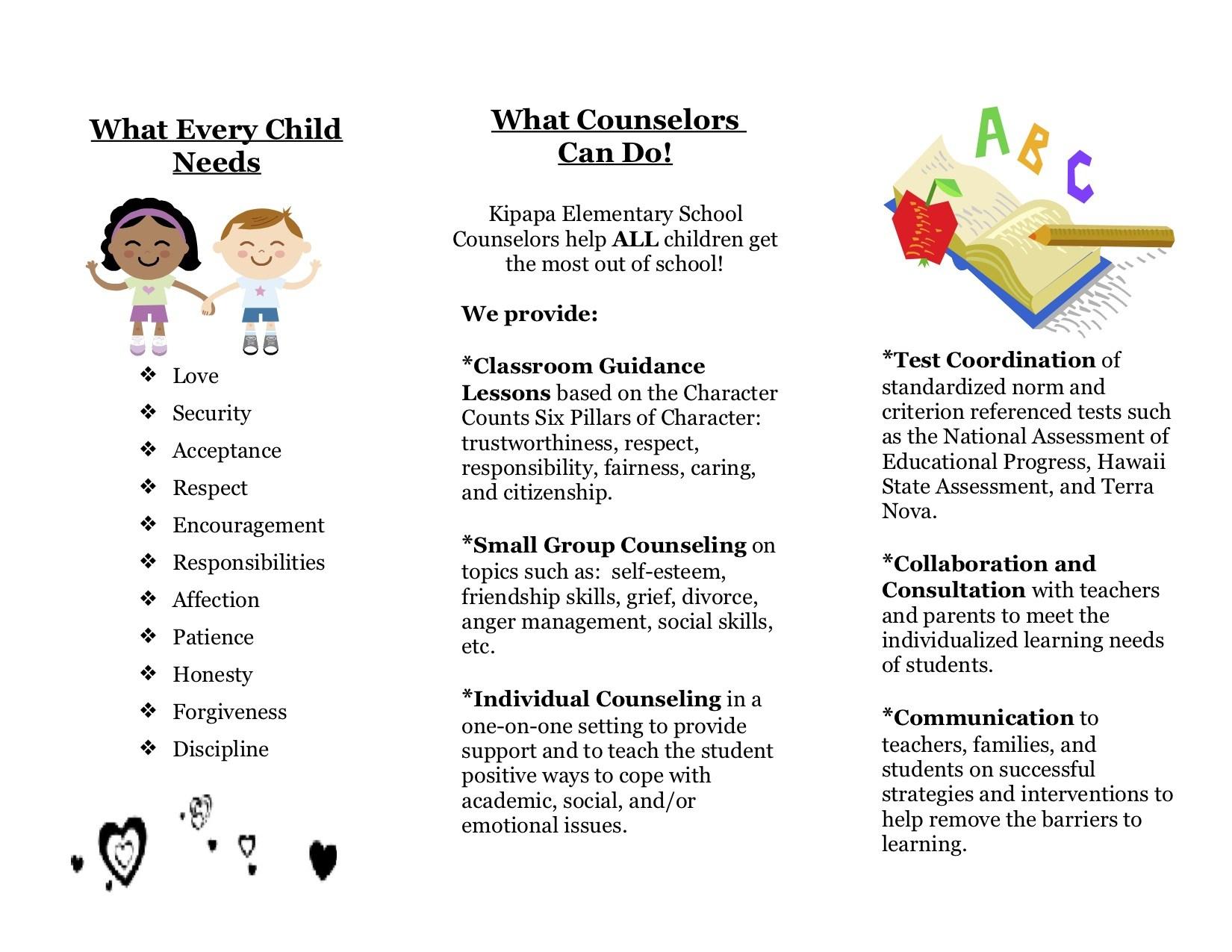 About Us Counselor S Corner Kipapa Elementary School