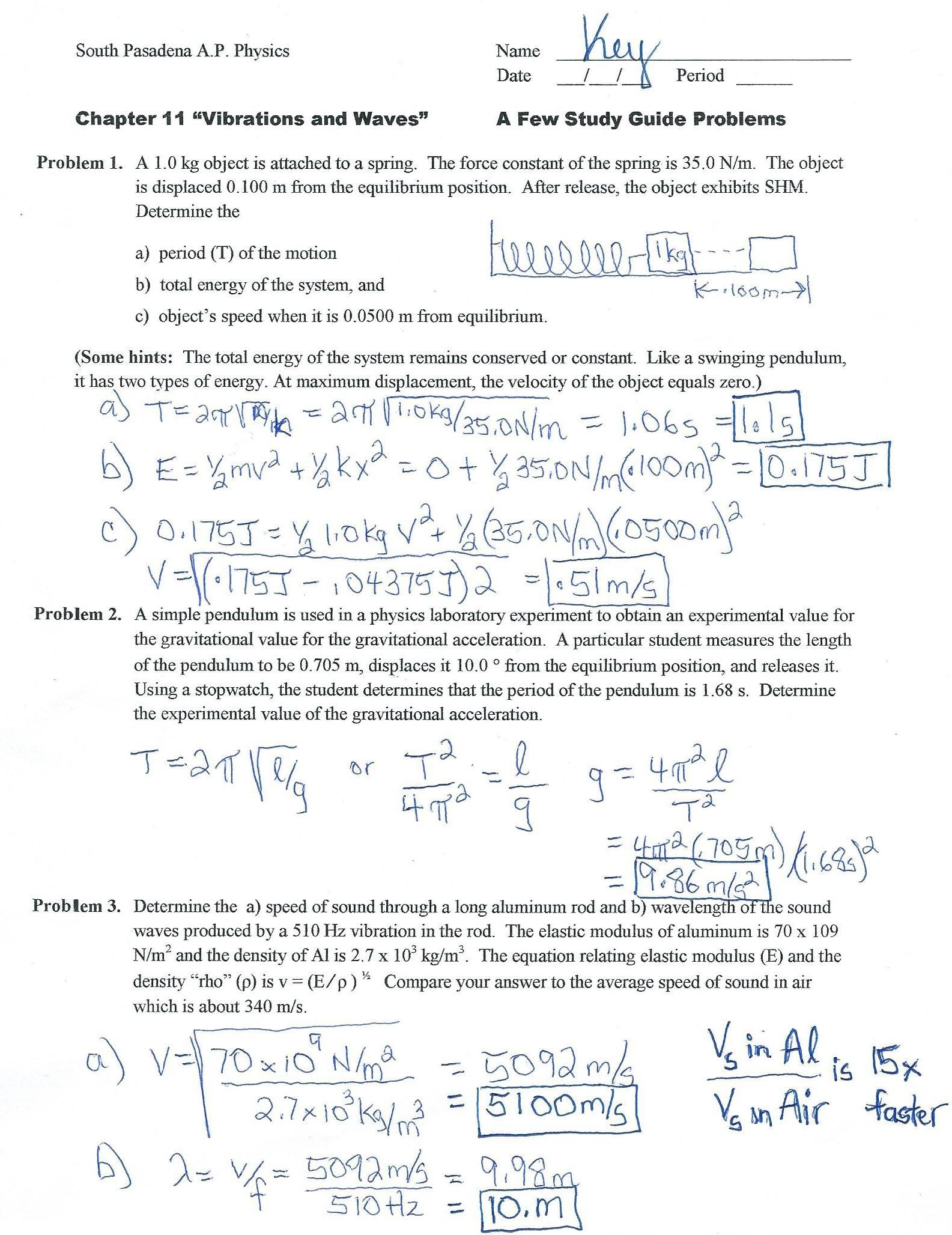 Newton S Second Law Worksheet Answer Key The Physics