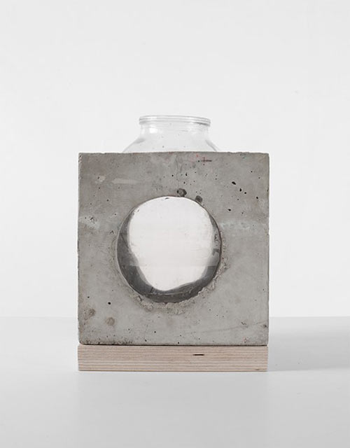 Concrete and Glass Vases by Sergey Makhno