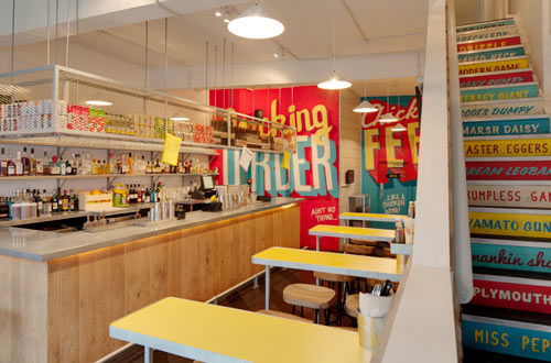 Type Murals! Wishbone Restaurant by Shed in interior design Category