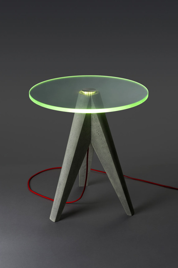 Holy Tristan Lighted Glass and Concrete Tables in home furnishings  Category