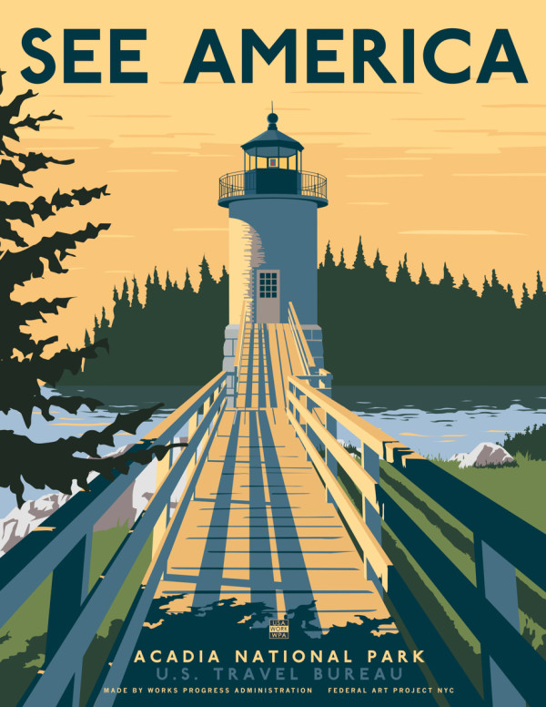 US Travel Posters by Steven Thomas for Print Collection in art  Category