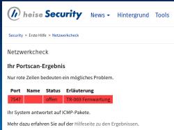 Wenn der Port für TR-069 aus dem Internet erreichbar ist, haben Sie unter Umständen ein Problem.