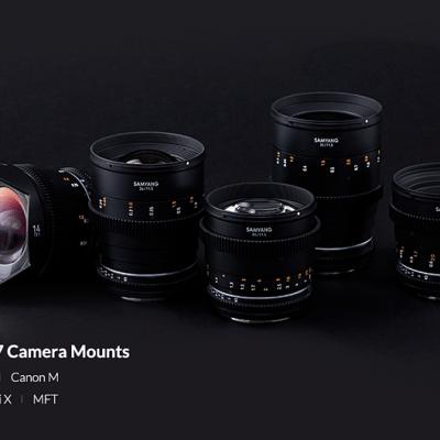 Samyang releases RF mount versions of its VDSLR MK II cine lens lineup
